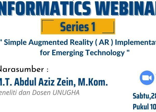 Informatics Webinar Series #1